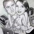Amoureux sur internet