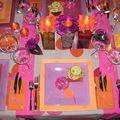 table colorée d'été