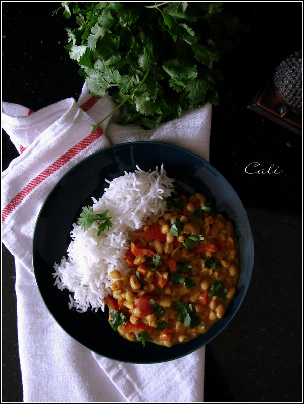 Curry de Haricots Blancs au Poivron 001