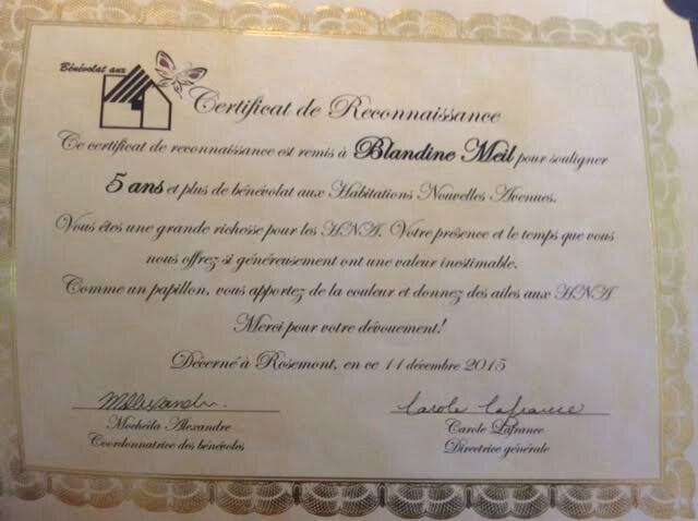 HNa certificat