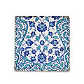 An iznik pottery tile, turkey, circa 1560