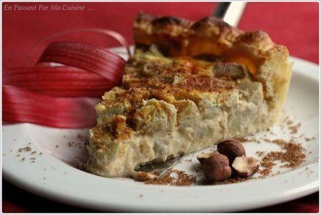 tarte rhubarbe, noisettes et vergeoise