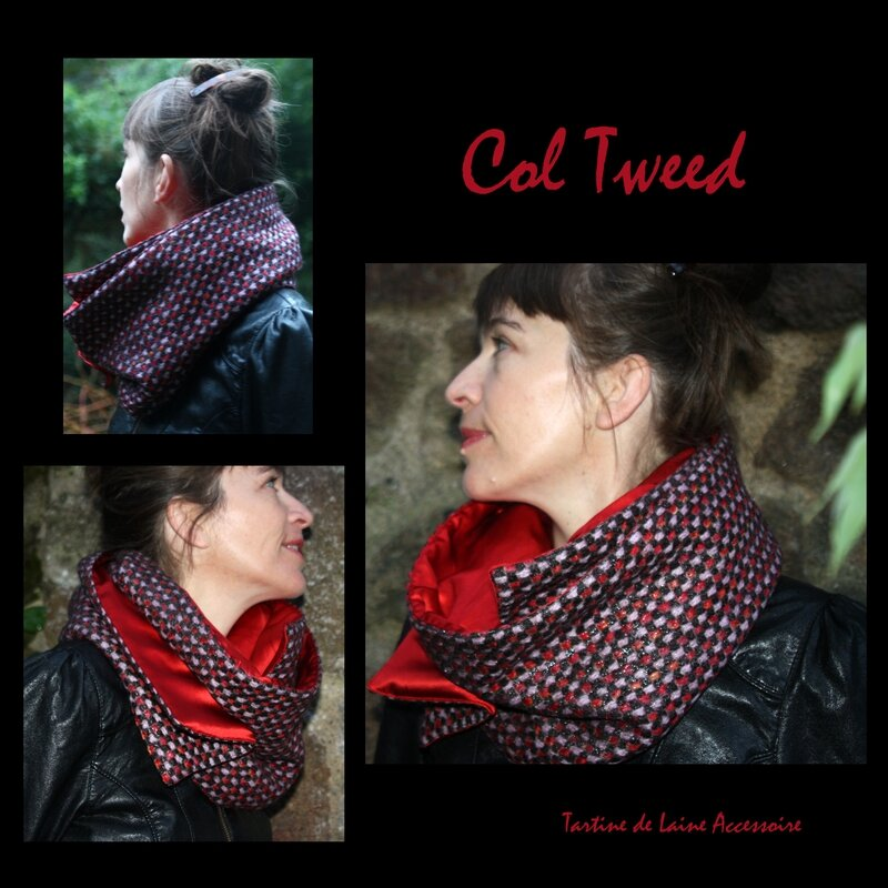 COL TWEED ROUGE