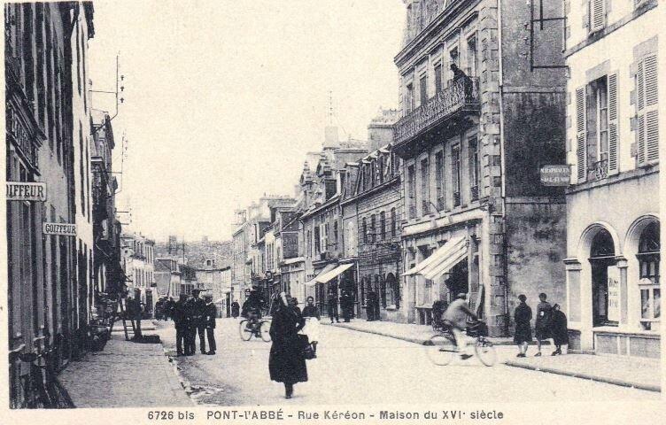 CPA rue Kereon à Pont l'Abbé_4