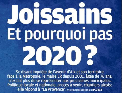 Joissains interview dans La Provence 16 avril 2018 2020