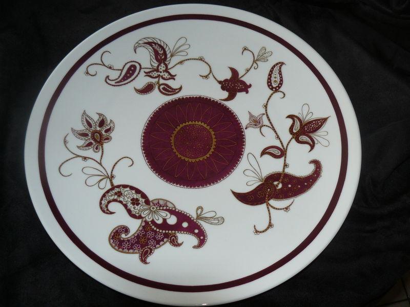 Grand plat arabesques