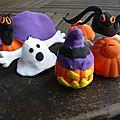 patarev pate à modeler halloween citrouille araignée fantôme deco (2)