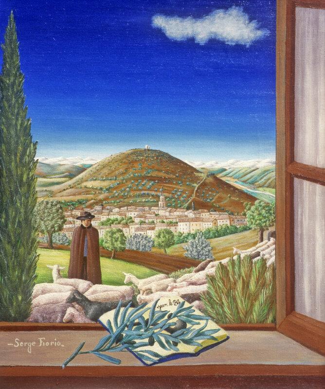 Illustration pour Jean le bleu, huile sur toile, 61x50 cm, 1991