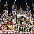 Fier d'être normand... sur la façade de la cathédrale de rouen