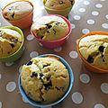 Muffins pépites chocolat noir