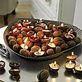 Bougies en noix