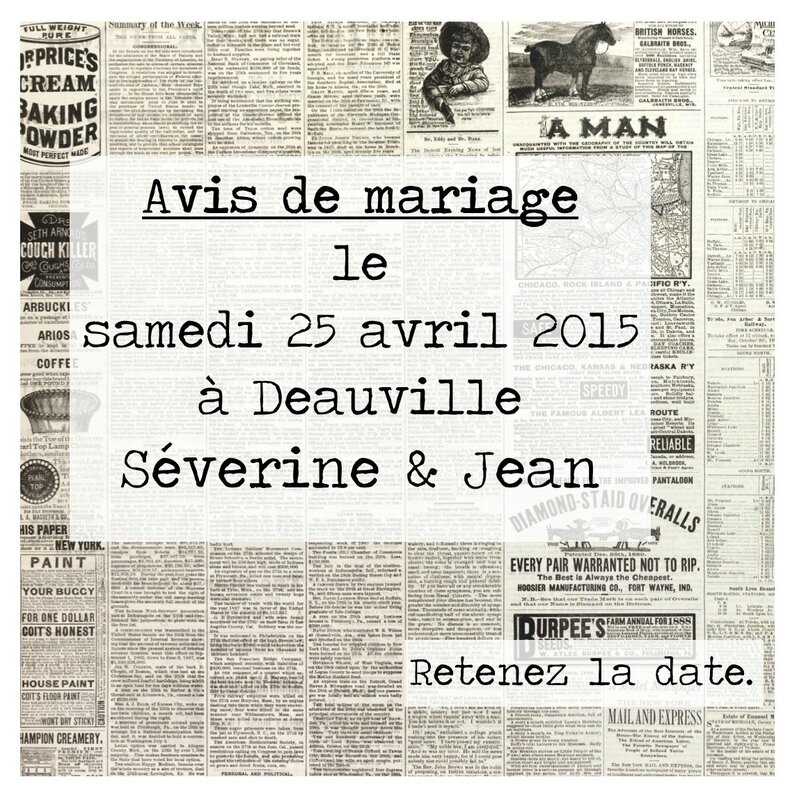 save the date avis journal