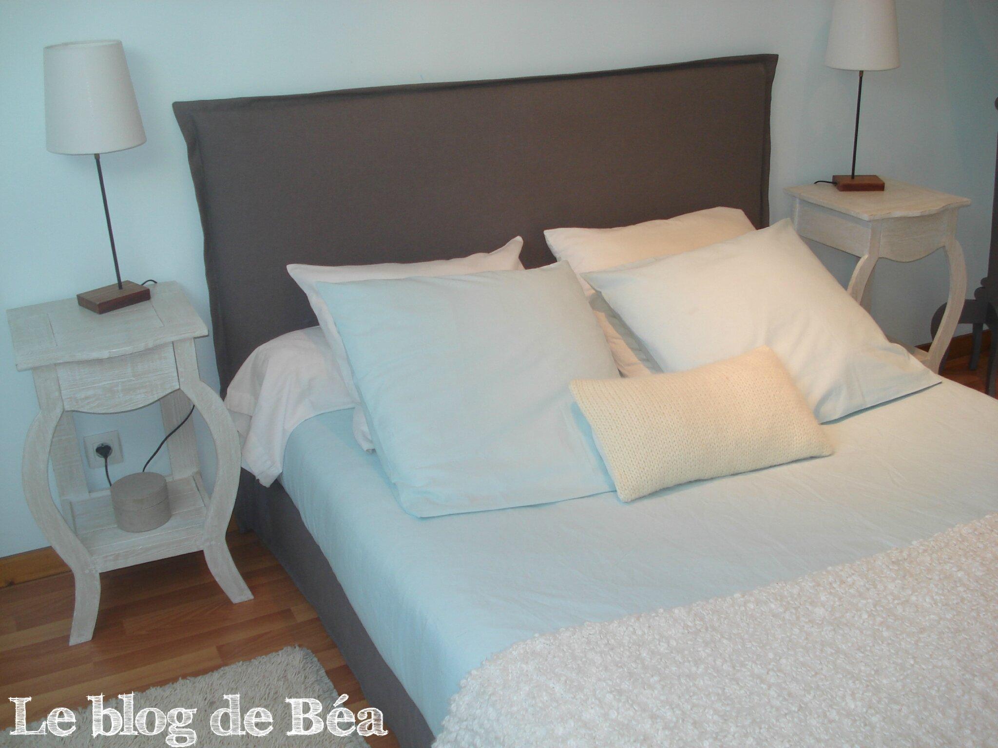 housse pour ma tte de lit et cache sommier - Fabriquer Une Tete De Lit