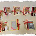 Pour la fête des mères,, les cartes boite à 2 étages de mes élèves d'école primaire