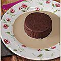 Marquise au chocolat et sa crème anglaise au café