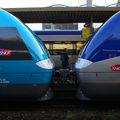 AGC attelés, Z 27 500 en gare de Nantes