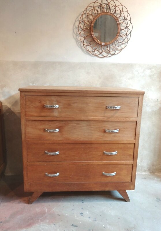 COMMODE ANNEES 50 BOIS