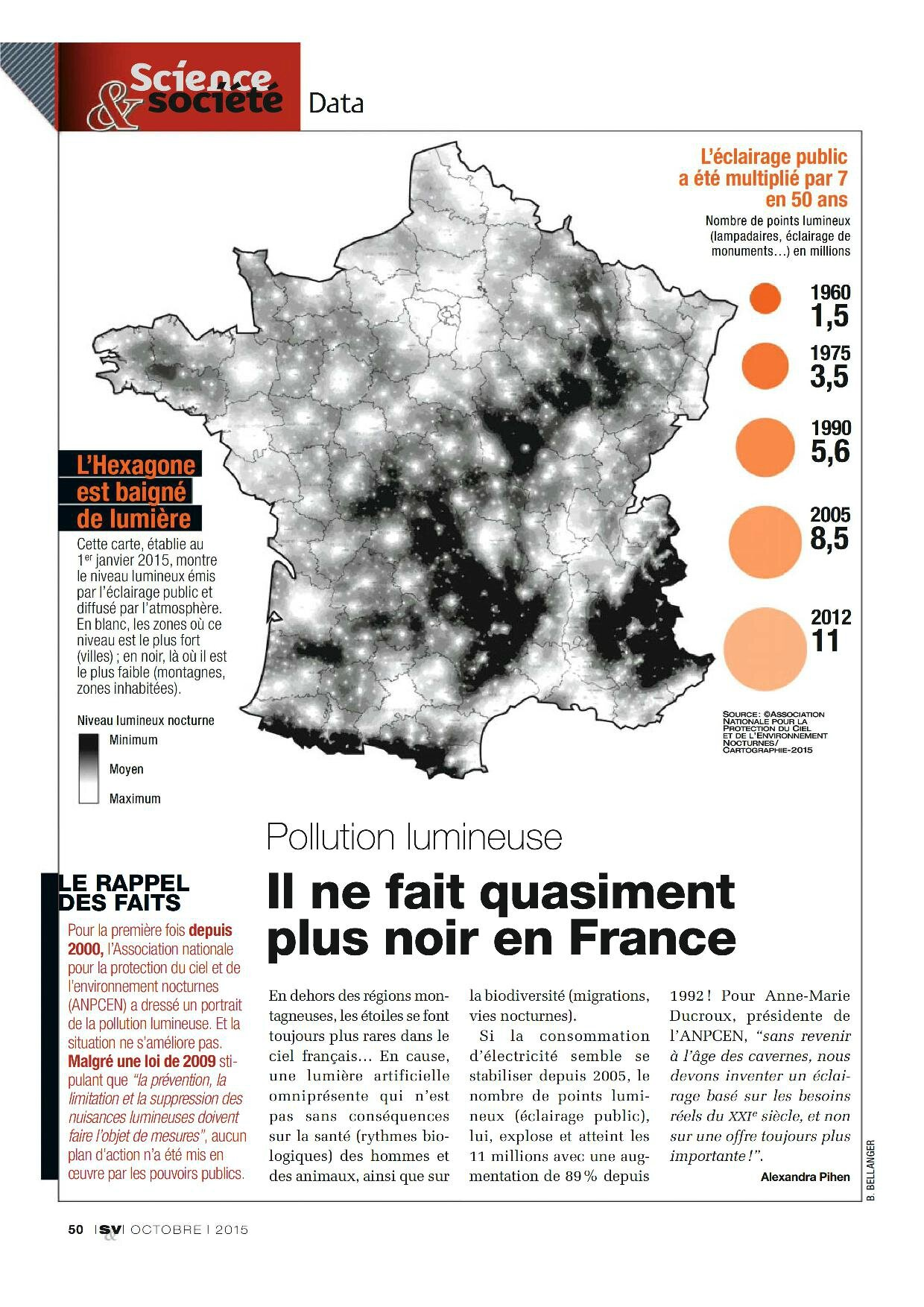 pollution lumineuse-Science & Vie 2015-10