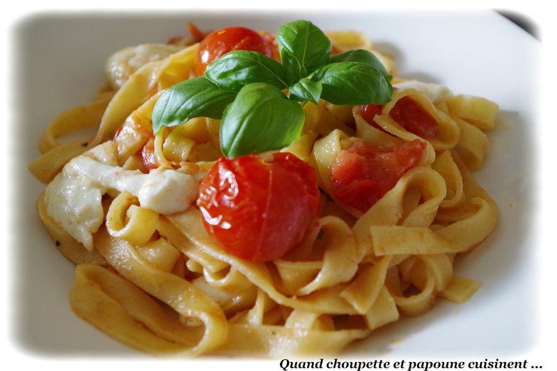tagliatelles fraîches tomate confite et mozzarella-7542