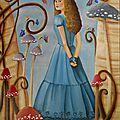 Peinture acrylique sur toile: alice