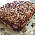 Gâteau aux poies, noisettes torréfiées et pralinoise 072