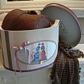 Boite à chapeaux Création esprit shabby chic