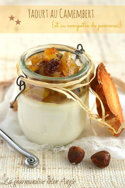 yaourts au camembert pommes noisettes