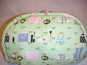 Trousse maquillage vert violette zoom flash