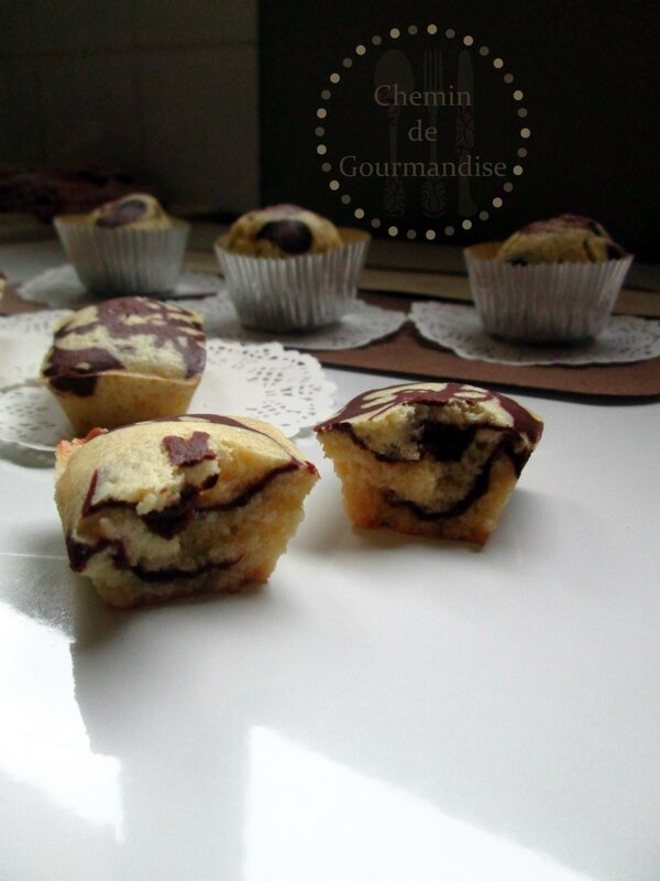 Muffins marbré Battle food 17