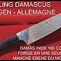 Couteaux - damascus - zwilling j.a. henckels