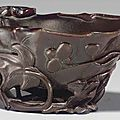 A_rhinoceros_horn_leaf_form_cup__17th_18th_century