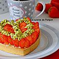 Un coeur de mousseline à la pistache et fraises