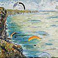 Parapente dans le décor de Monet