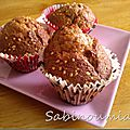 Muffins fromage blanc choco lait noisette extra moelleux