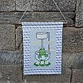 Un panneau pour une grenouille