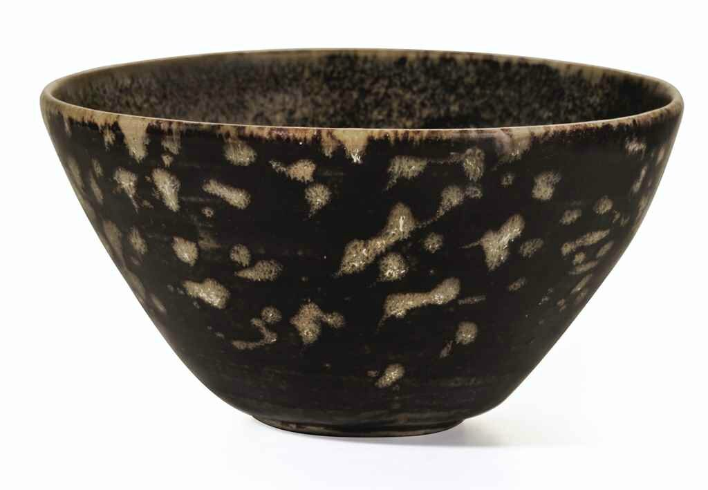 A paper-cut resist-decorated Jizhou tea bowl, Southern Song dynasty, 12th-13th century