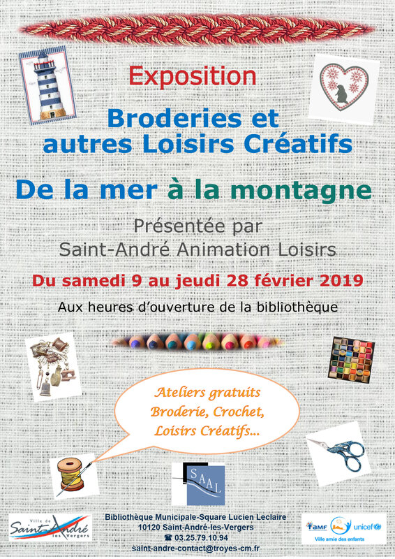 affiche A4 Expo broderie 2019