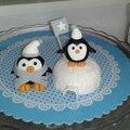 Pingouins en pâte à sucre