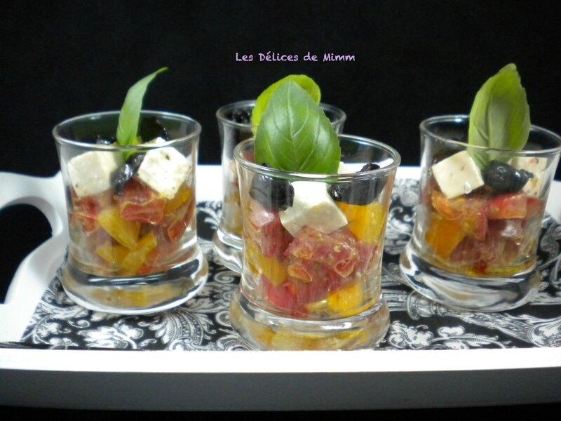 Petites verrines méditerranéennes pour l'apéro 2