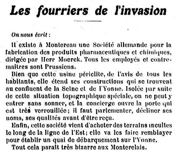 Fouriers de l'invasion