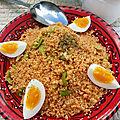 Boumfawer ( couscous du printemps aux fèves fraîches) بو مفاور