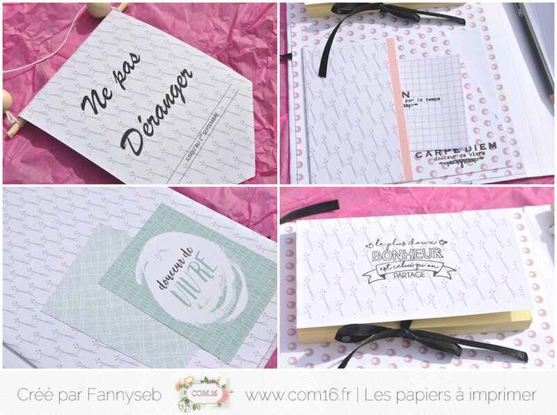 ensemble cadeau fannyseb 4 collection June Papiers COM16