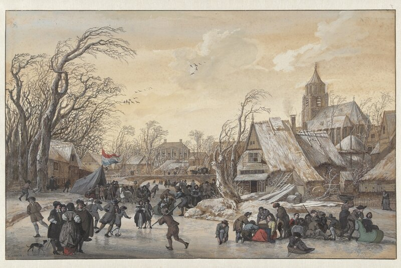 Gerrit Battem, Winter Landscape, c