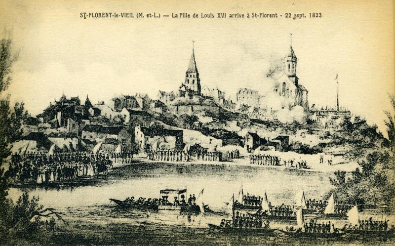 Le 22 septembre 1823 à Saint Florent, Marie-Thérèse de France duchesse d'Angoulême et le sculpteur Pierre David d'Angers