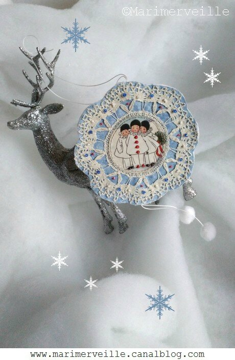 Décoration Pierrot dentelle Marimerveille