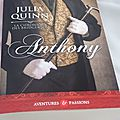 La chronique des bridgerton, tome 2: anthony -julia quinn.