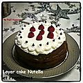 Layer cake nutella-framboises