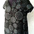 haut coton decolleté fermé motifs bleu gris pw