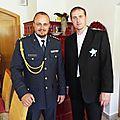 Roman Janas et l'aumônier militaire à Ceska Ves