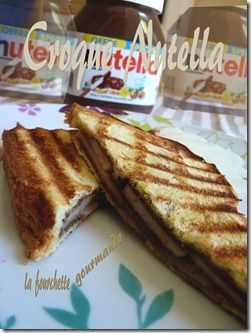 Croque Nutella poire